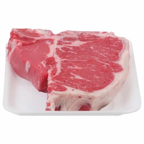 Beef Choice T-Bone Steak (1 Steak) Perspective: front