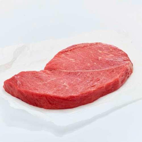 Beef Choice Boneless Round Tip Steak (2 Per Pack) Perspective: front