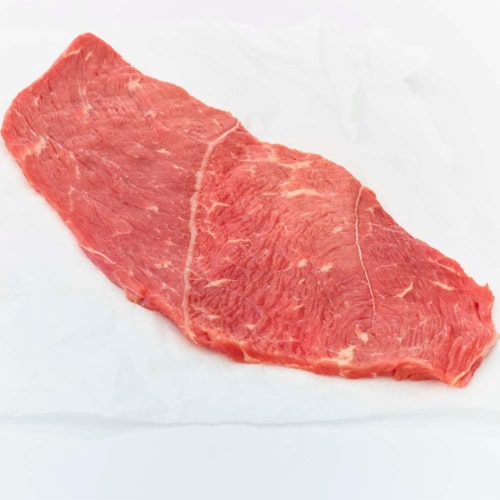 Beef Choice Round Sirloin Tip Steak Thin Sliced (About 3 Steaks per Pack) Perspective: front