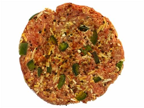 Jalapeno Pepperjack Beef Patties Perspective: front