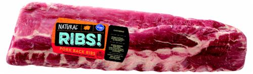 Kroger Pork Loin Back Ribs Perspective: front