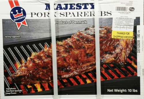 Majesty Pork Spare Ribs Perspective: front