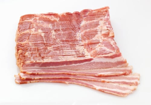 Pork Thick Sliced Bacon (From Fresh Meat Counter) Perspective: front