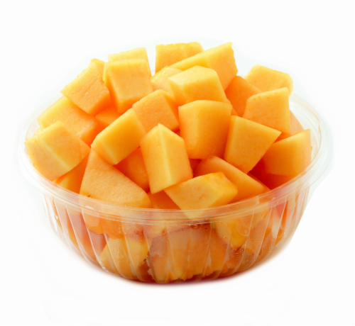 In-Store Cut Cantaloupe in Natural Juices Large Cup Perspective: front