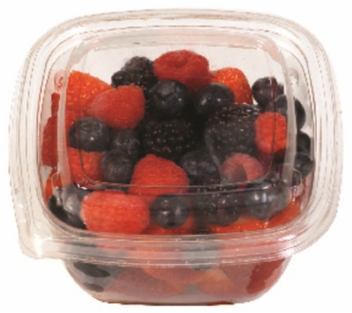 In-Store Cut Large Mixed Berry Fruit Cup Perspective: front