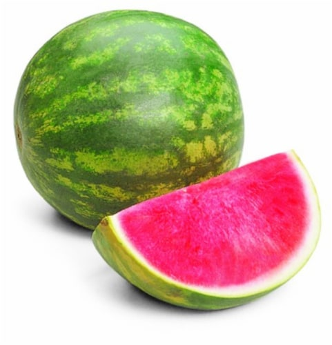 In-Store Cut Seedless Watermelon Quarters Perspective: front