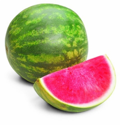 In-Store Cut Seedless Watermelon Fillets Perspective: front