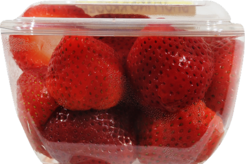 In-Store Cut Strawberry Small Cup Perspective: front