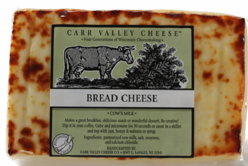 Carr Valley Bread Cheese Perspective: front
