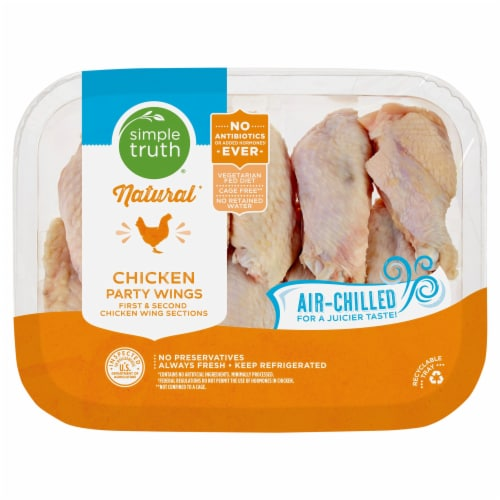 Simple Truth® Natural Air-Chilled Chicken Party Wings Perspective: front