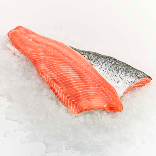 Wild Caught King Salmon Fillet (Tray) Perspective: front