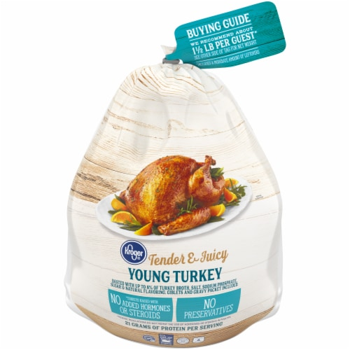 Kroger® Tender & Juicy Whole Frozen Young Turkey (14-16 lb) Perspective: front