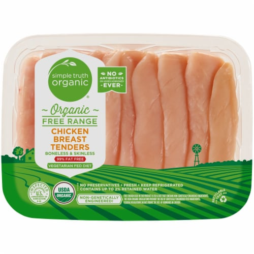 Simple Truth Organic™ Free Range Chicken Breast Tenders Perspective: front
