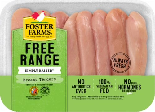Foster Farm Free Range Chicken Breast Tenders Perspective: front