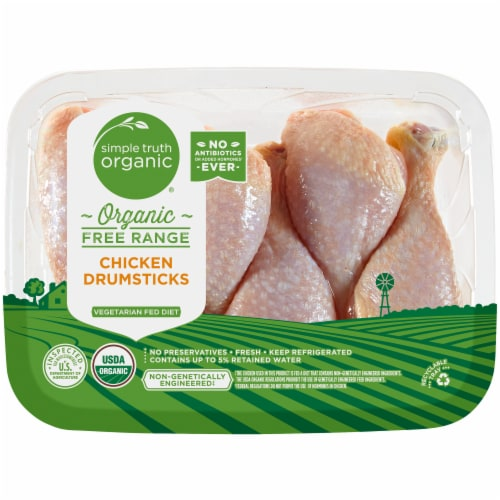 Simple Truth Organic™ Free Range Chicken Drumsticks (4 to 6 per Pack) Perspective: front