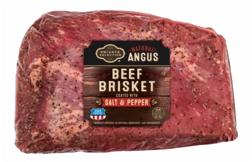 Private Selection® Natural Angus Beef Brisket with Salt & Pepper Perspective: front