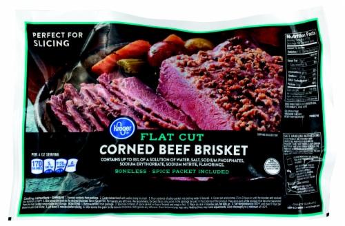 Kroger®  Flat Cut Corned Beef Brisket Perspective: front
