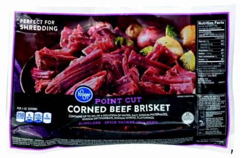 Kroger® Point Cut Corned Beef Brisket Perspective: front