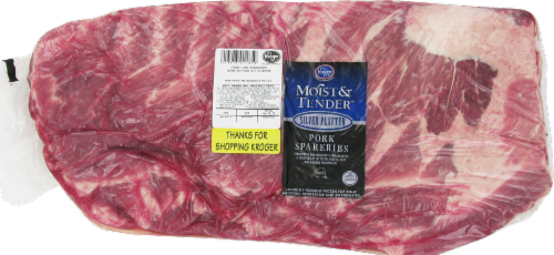 Moist & Tender Fresh Pork Spare Ribs Perspective: front
