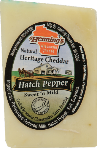 Hatch Pepper Cheddar Cheese Perspective: front