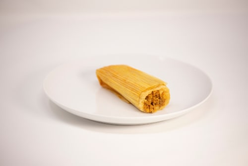 Caseros Homemade Pork Tamale Perspective: front