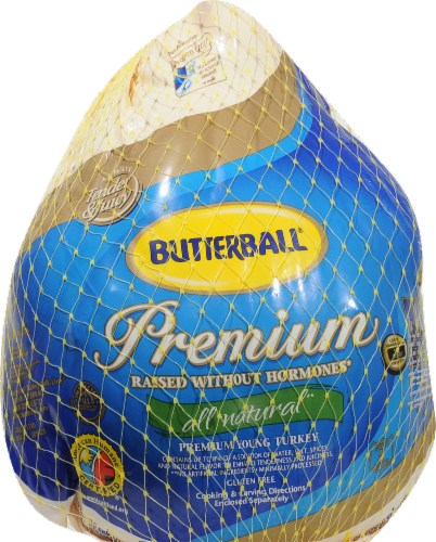 Butterball Premium Whole Frozen Turkey (10-14 lb) Perspective: front