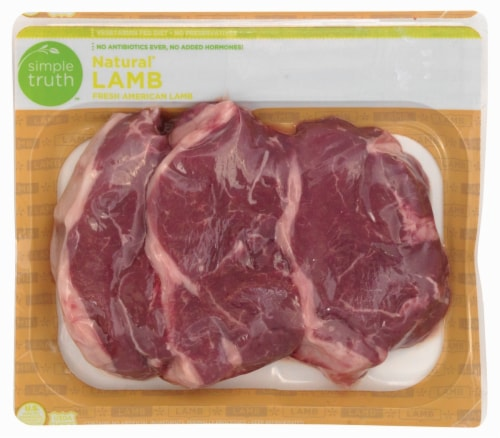 Simple Truth™ Natural Lamb Sirloin Chops Perspective: front