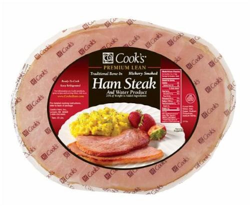 Cook's Ham Steak Bone-In Perspective: front