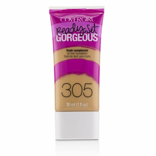 Covergirl Ready Set Gorgeous Oil Free Foundation  # 305 Golden Tan 30ml/1oz Perspective: front