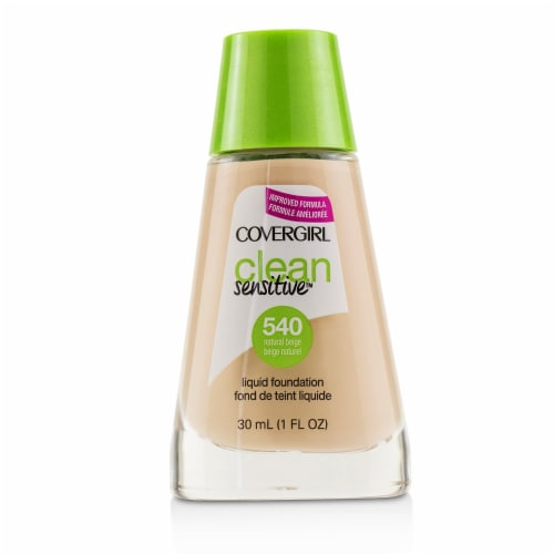 Covergirl Clean Sensitive Liquid Foundation  # 540 Natural Beige 30ml/1oz Perspective: front