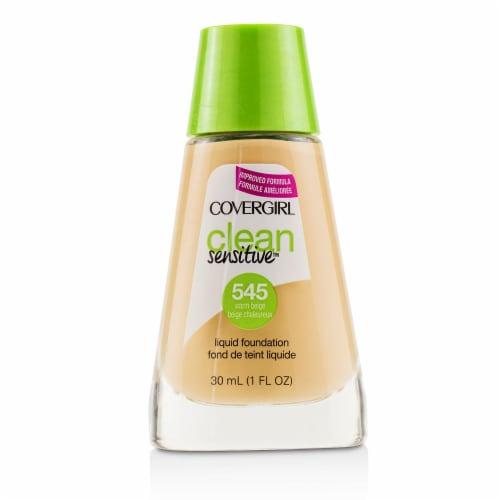 Covergirl Clean Sensitive Liquid Foundation  # 545 Warm Beige 30ml/1oz Perspective: front