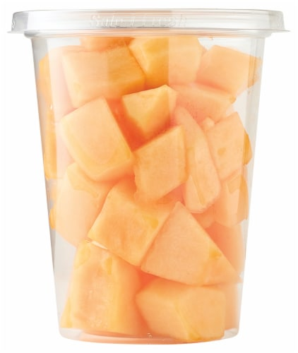 Fresh Cut Cantaloupe Cup Perspective: front