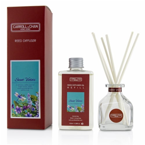 The Candle Company (Carroll & Chan) Reed Diffuser  Sweet Violets 100ml/3.38oz Perspective: front