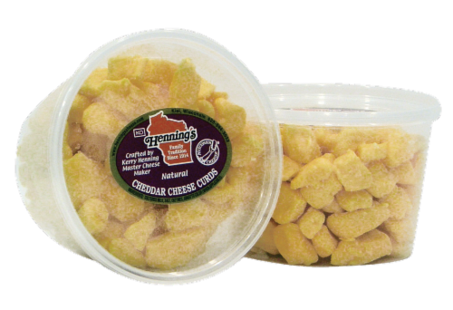Henning's USA Cheese Curds Perspective: front