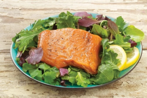 Hickory Smoked Salmon Perspective: front
