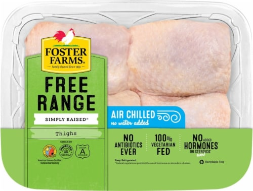 Foster Farms Free Range Simple Raised Chicken Thighs Perspective: front