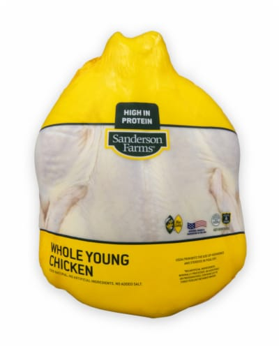 Sanderson Farms Whole Frying Chicken (Single) Perspective: front