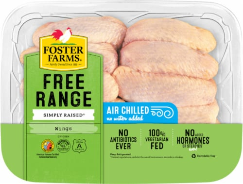 Foster Farms Free Range Simply Raised Chicken Wings Perspective: front
