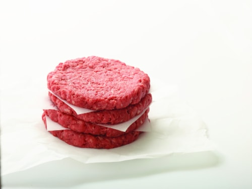 Ground Beef Chuck Patties 80% Lean Perspective: front