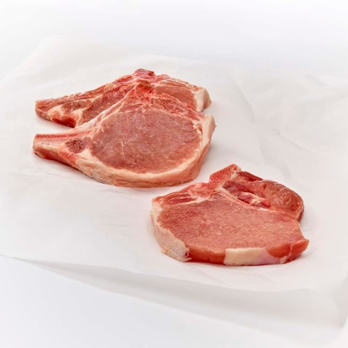 Center Cut Bone In Pork Chops Perspective: front