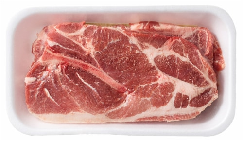 Pork Bone-In Shoulder Steaks (2 Steaks per Pack) Perspective: front