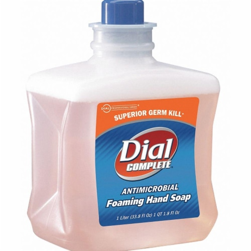 Dial Foam Hand Soap,1000mL,Unscented,PK6  00162 Perspective: front