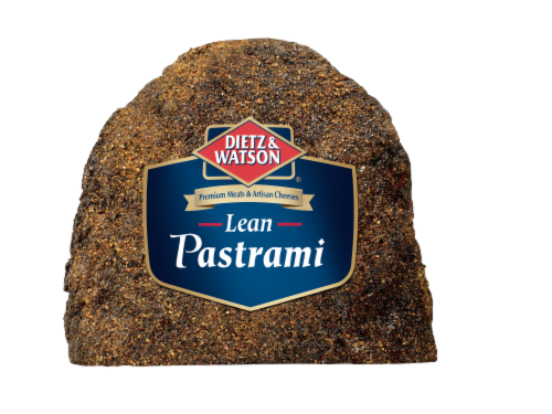Dietz & Watson Sliced Bottom Round Lean Pastrami Perspective: front