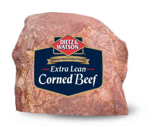 Dietz & Watson Sliced Extra Lean Corned Beef Perspective: front