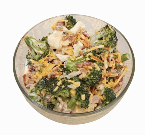 Broccoli Cheese Salad Perspective: front