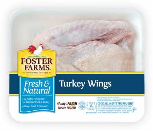 Foster Farms Fresh & Natural Turkey Wings Perspective: front
