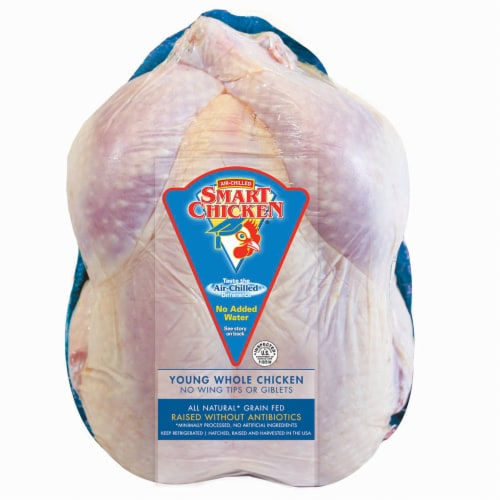 Smart Chicken Natural Young Whole Chicken Perspective: front