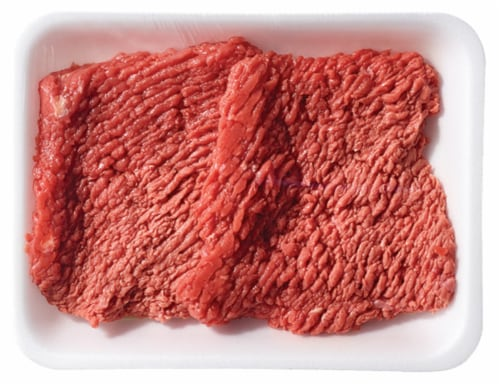 Beef Cubed Steaks (About 2 Steaks per Pack) Perspective: front