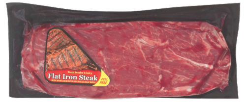 Beef Choice Boneless Flat Iron Steak (1 Steak) Perspective: front