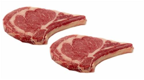 Beef Choice Bone-In Ribeye Steak Value Pack (2-3 Steaks per Pack) Perspective: front